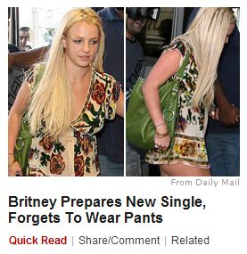 News Flash: Britney Spears is Dumb and an Exhibitionist