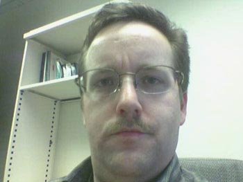 My ugly mug, as seen by my cellphone camera