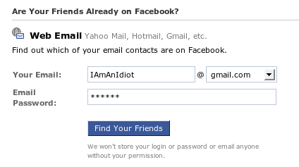 Facebook friend finder does the same thing