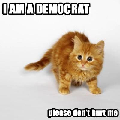 I am a Democrat, please don't hurt me