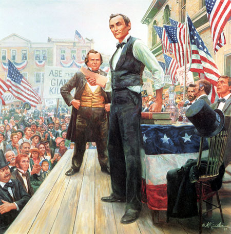 The Lincoln-Douglas Debates: Mort Kunstler