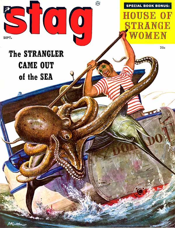 Kunstler cover featuring octopus fight