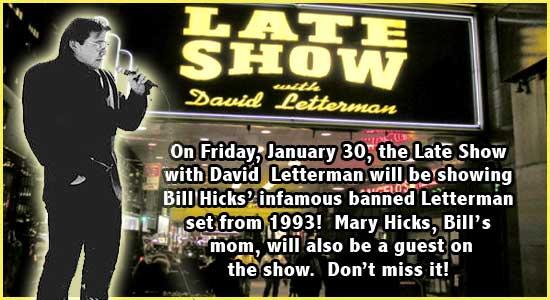 Bill Hicks on David Letterman