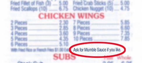 Mumble Sauce?