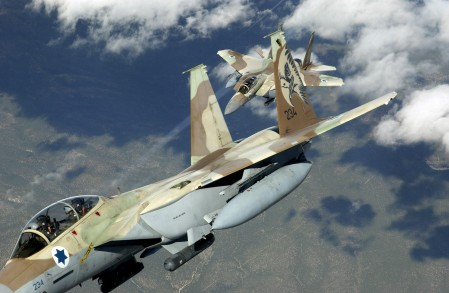 Two Israeli F-15I strike fighters