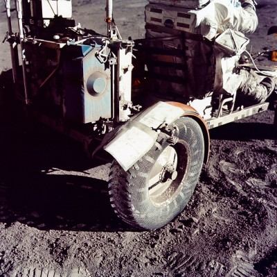 Duct tape on Apollo 17 lunar rover