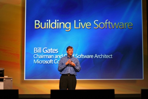 Bill Gates introducing Windows Live in 2005
