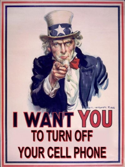 Uncle Sam says: turn off your damn phone