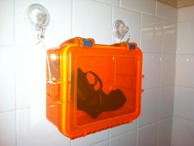 Shower gun box