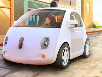 Google self-driving car prototype rendering