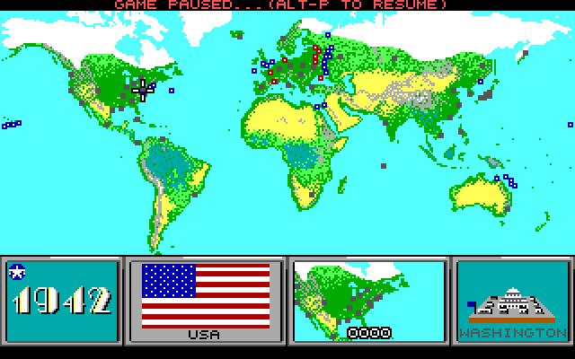 Command H.Q.: world map (1942 scenario)
