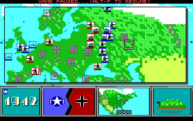 Command H.Q.: the Eastern Front, zoomed in