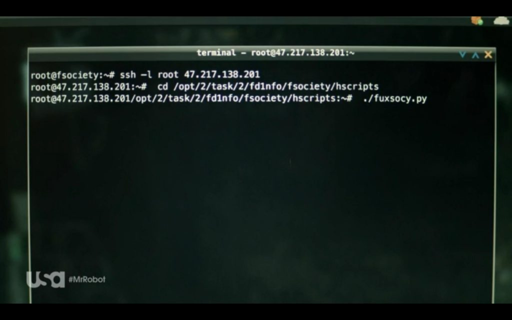 Mr. Robot - Terminal window