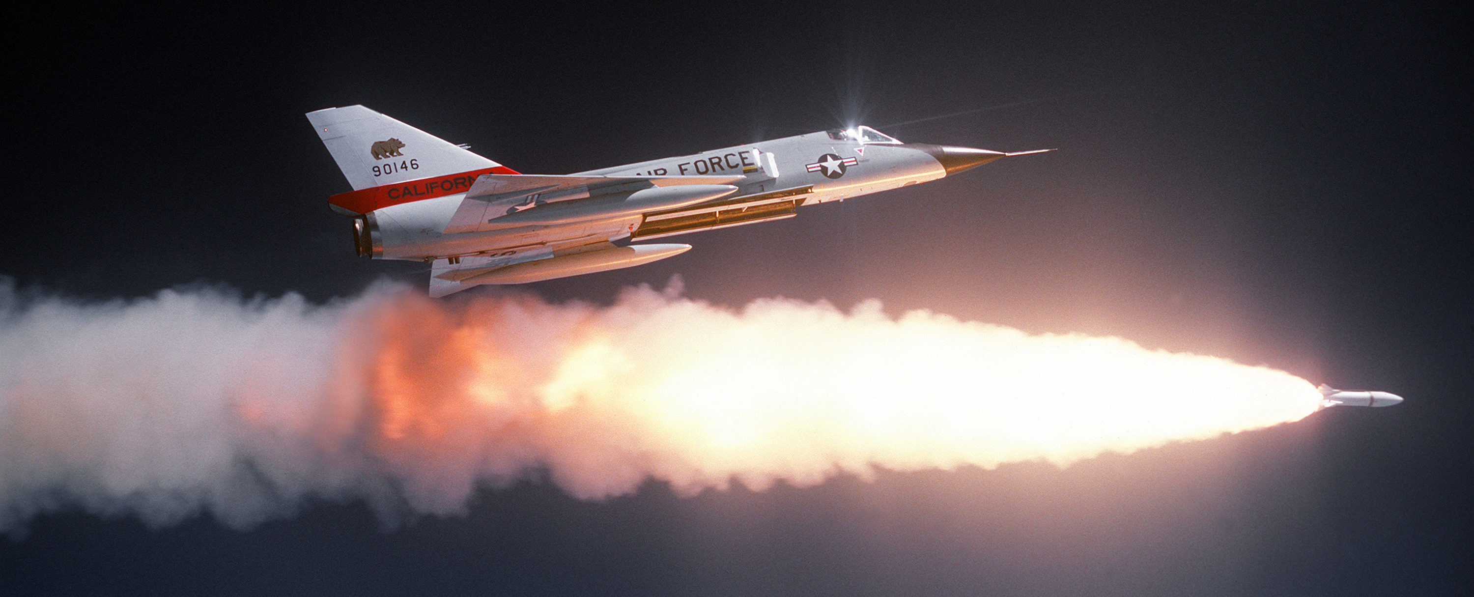 F-106A fires Genie missile