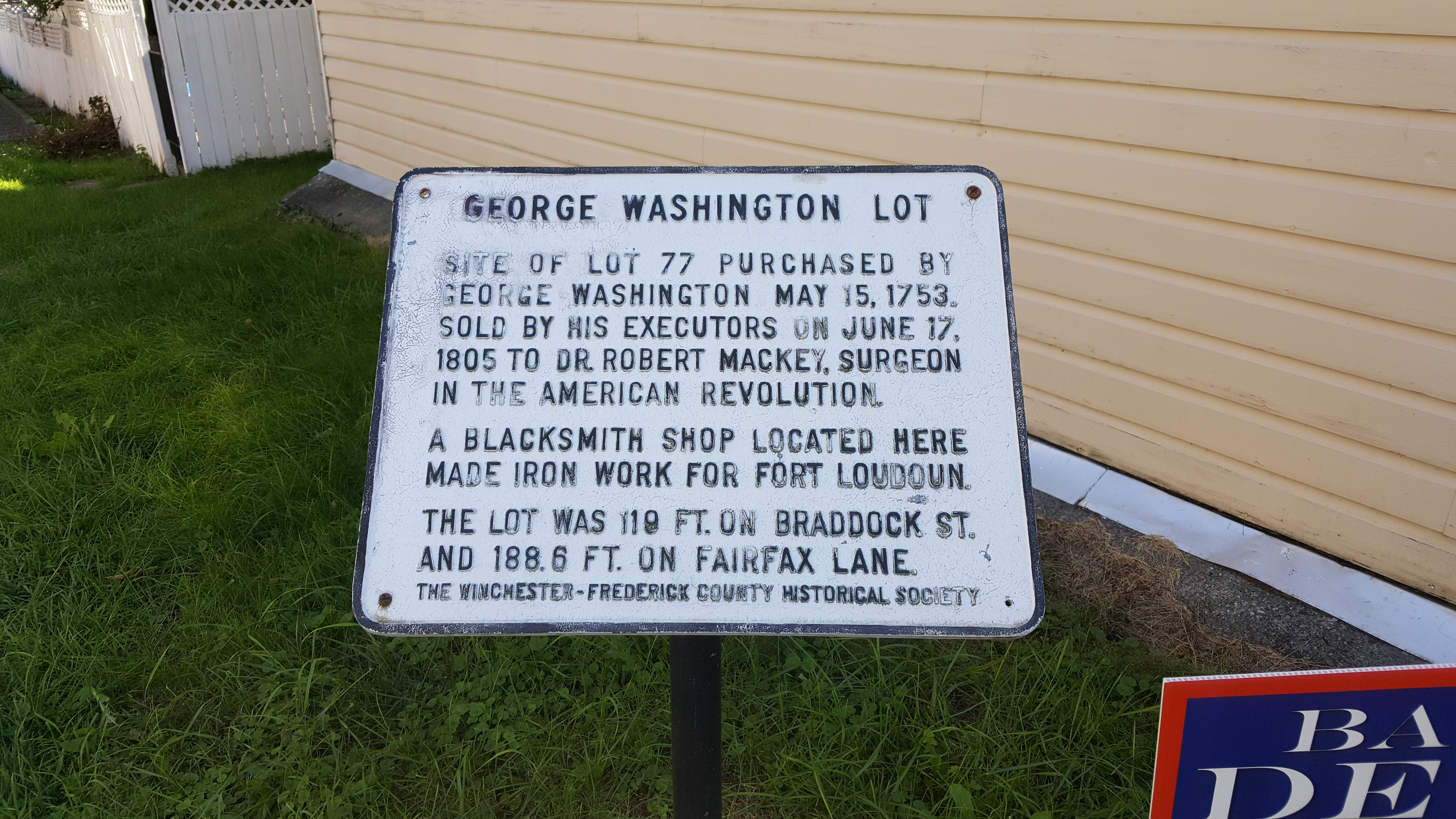 George Washington lot