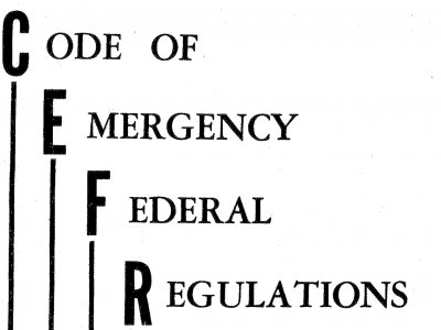 Code of Emergency Federal Regulations