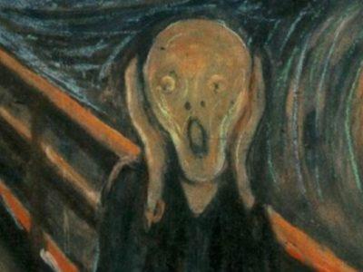 "Detail from Edvard Munch, ""The Scream."" 1893."