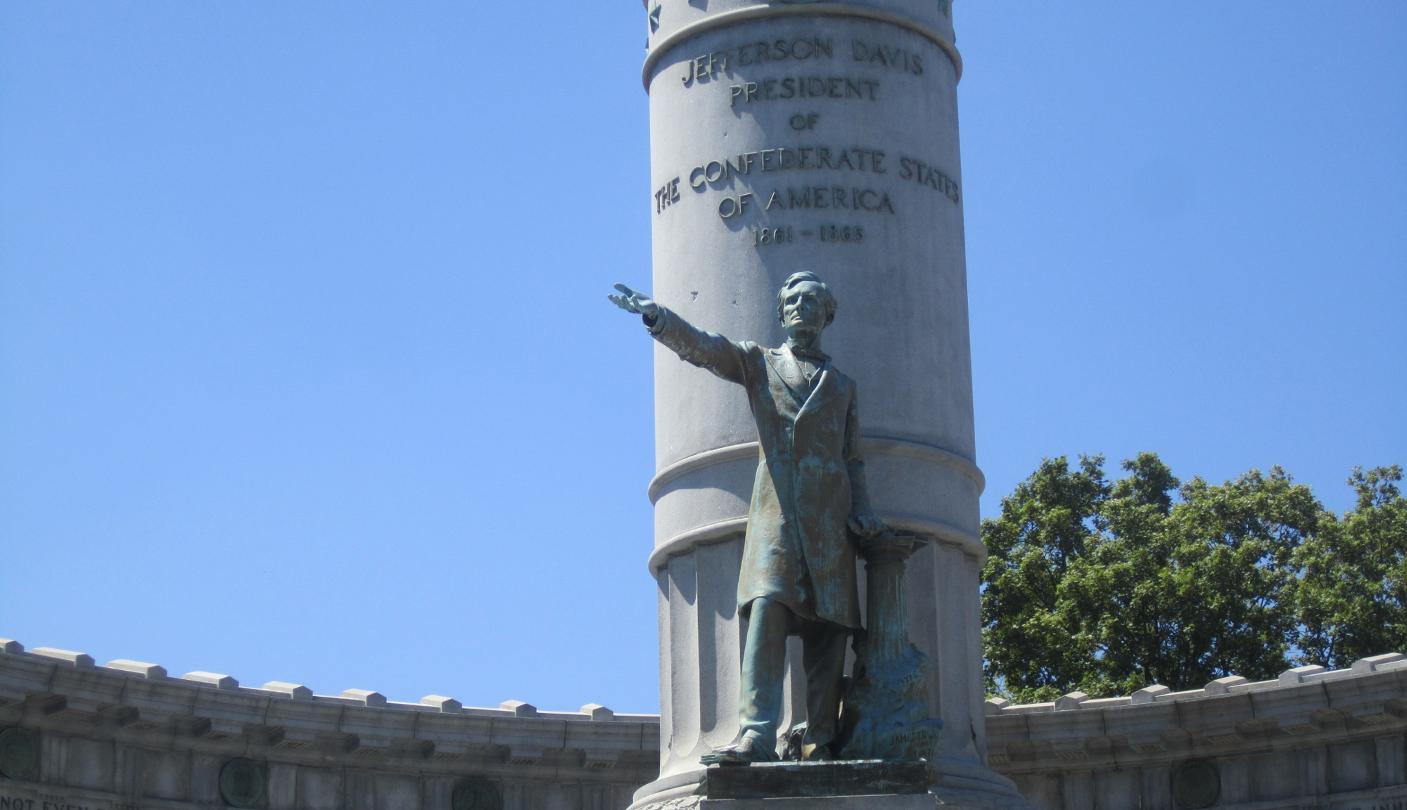 Jefferson Davis monument, Richmond, VA